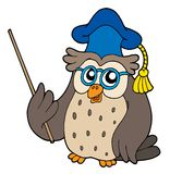 Owl teacher vector illustration Royalty Free Stock Photography