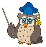 Owl teacher vector illustration. Owl teacher with pointer - vector illustration Royalty Free Stock Photography