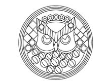 Owl therapeutic art coloring page Royalty Free Stock Photos