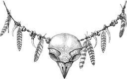 Owl Totem Immagini Stock