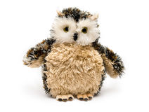 Owl is a toy. Bird an eagle owl a symbol of wisdom and knowledge Stock Photo