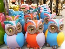 Owl toy : money box Stock Image