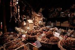 Owl toys at the Christmas market royalty free stock photos