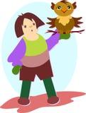Owl Trainer médiéval illustration libre de droits