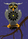 Owl on a tree branch. Stock Images
