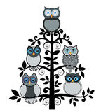 Owl  tree Royalty Free Stock Photo