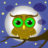 Owl on the tree royalty free illustration