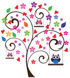 Owl Tree Royalty Free Stock Images