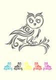 Owl tribal Stock Photos