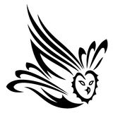 Owl, tribal Stock Photography