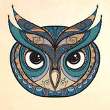 Owl with tribal ornament. Royalty Free Stock Photo