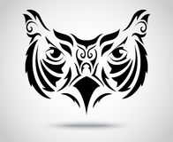Owl Tribal-patroon Stock Afbeelding