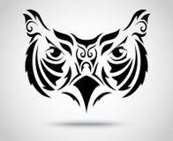 Owl Tribal-patroon Stock Afbeelding