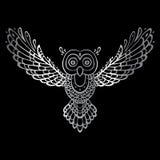 Owl. Tribal pattern Stock Photos