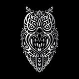 Owl. Tribal pattern Royalty Free Stock Photo