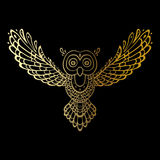 Owl. Tribal pattern Stock Image