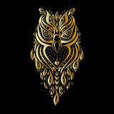 Owl. Tribal pattern Stock Images