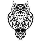 Owl Tribal pattern Vector illustration Stock Photography