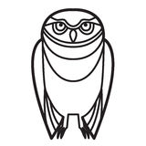 Owl in Tribal Style Royalty Free Stock Photography