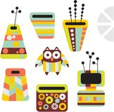 Owl and vases. Stock Images