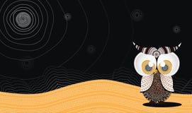 Owl Vector aborigen Foto de archivo libre de regalías