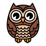 Owl vector cartoon Royalty Free Stock Photography