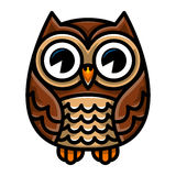 Owl vector cartoon Stock Images