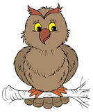 Owl (vector clip-art) Royalty Free Stock Photos
