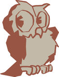 Owl Vector design clipart Royalty Free Stock Image