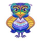 Owl vector graphic hand-drawn stock illustration