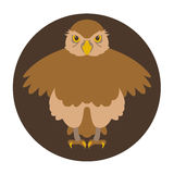 Owl vector illustration style Flat Royalty Free Stock Photos
