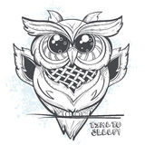 Owl vector illustration - time to sleep Stock Photography