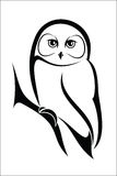 Owl 2. Vector illustration : Owl on a white background Royalty Free Stock Photos
