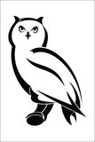Owl 1. Vector illustration : Owl on a white background Royalty Free Stock Photo