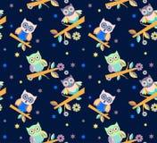 Owl vector seamless pattern.. Stock Photos
