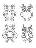 Owl vector set Stock Photo