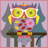 Owl-vintage teacher Royalty Free Stock Photography