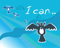 Owl2 wallpaper Stock Image