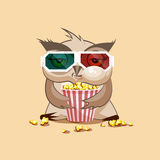 Owl watching a movie Stock Image