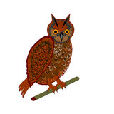 An owl on a white background Royalty Free Stock Images