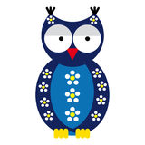 Owl on white background Stock Photography