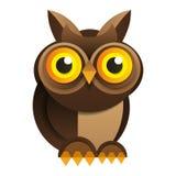 Owl On White Background Vector para su diseño ilustración del vector