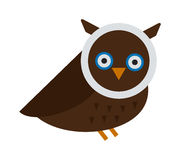 Owl wild bird cartoon vector Royalty Free Stock Photos