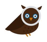 Owl wild bird cartoon vector Royalty Free Stock Photos