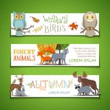 Vector set of horizontal autumn banners. Royalty Free Stock Photography