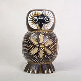 Owl Wood Carving stockfotos