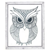 Owl Zentangle Simple royalty illustrazione gratis