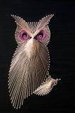 Owlen stränger konst Royaltyfri Bild