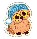 Owlet in the hat Stock Image