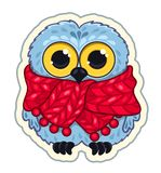 Owlet in the scarf Stock Photo